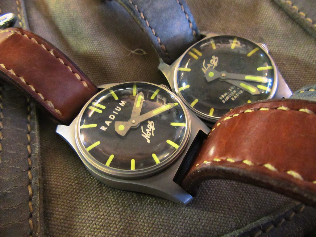Two Radium instrument watches